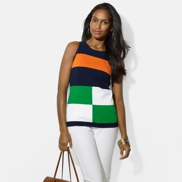 LAUREN Ralph Lauren   Colourblock Sleeveless top